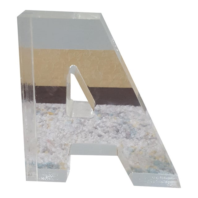 Mid Century Lucite Block Letter A - Image 1 of 4