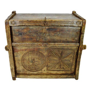 Ancient Kafiristan Wooden Dowry/Treasure Chest