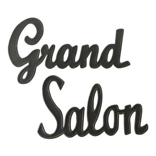 Vintage Inspired Grand Salon Sign