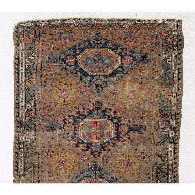 Antique Persian Sumak Kilim Rug- 5′ × 7′2″ - Image 6 of 6