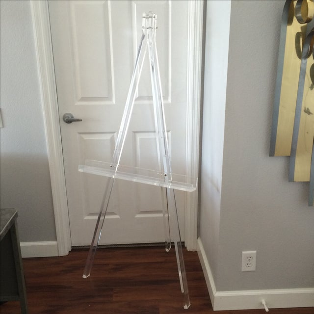1970's Mid Century Modern Tall Lucite Art Easel - Image 2 of 7