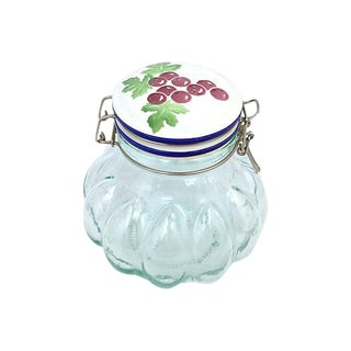 Italian Quilted Glass Canister