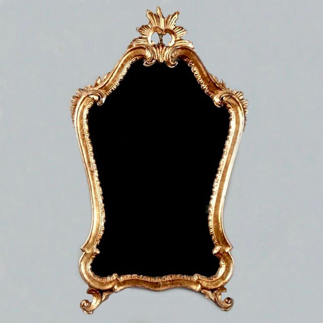 Image of Italian Gilded Mirror with Crown Top