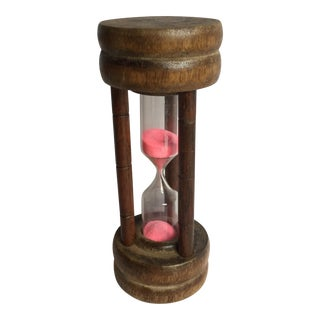 Wooden Pink Sand Hourglass