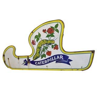Porcelain Caterpillar Ride Sign from Riverview Amusement Park