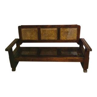 1930s Cuban Cane Sofa