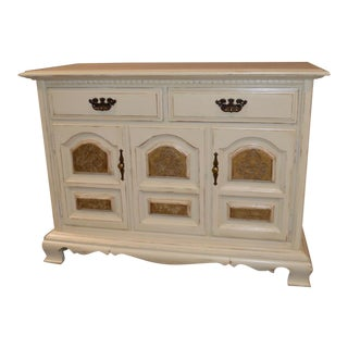Vintage Cottage Style Accent Cabinet