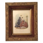 Image of Antique 1874 French Fashion Illustration Print