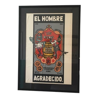 Framed in Glass Authentic Cuban Movie Poster