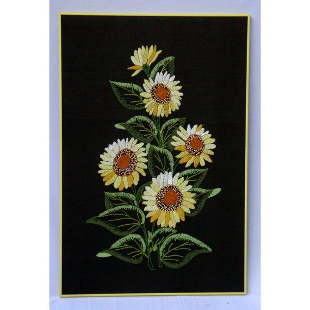 Vintage Sunflowers Original Needlepoint Art - Image 5 of 8
