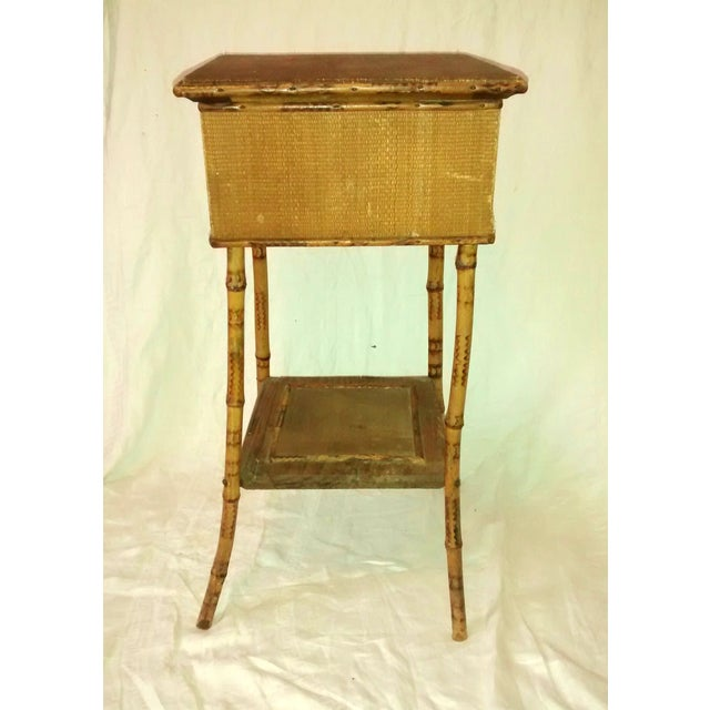 1890's Antique Bamboo Embroidery Table - Image 2 of 10