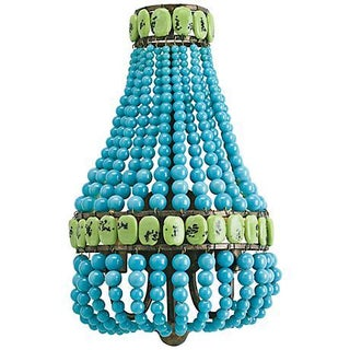 Turquoise Beaded Wall Sconce by Currey & Company