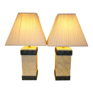 Elegant Maitland Smith Lacquered Art Deco Style Table Lamps