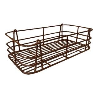 Vintage Metal Basket Tray