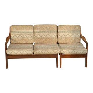 Mid-Century Wood Sectional