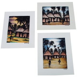 Tiki Hut Surf Art Prints - Set of 3