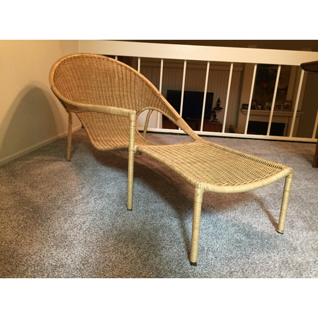1950s Scarce Francis Mair Mid-Century Modern Rattan Low Slung Lounge Chair - Image 5 of 8