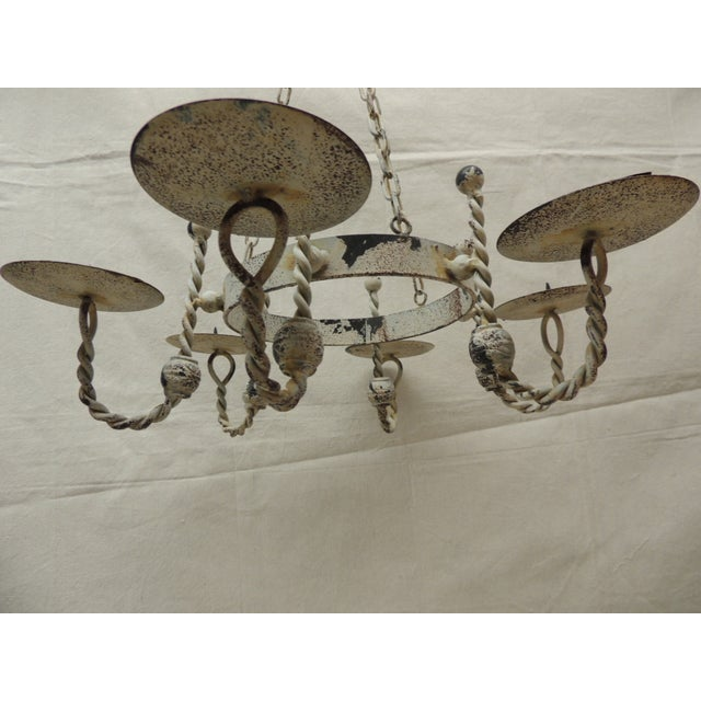 Image of Vintage Shabby Chic Hanging Chandelier