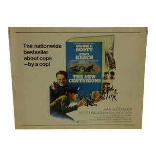 """Vintage Movie Poster for """"The New Centurions"""" Starring George C. Scott & Stacy Keach, 1972"""