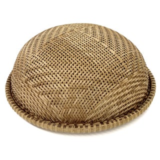 Wicker Covered Picnic Tray