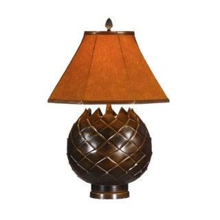 Petals Lamp, Hand Finished Bronze Patina