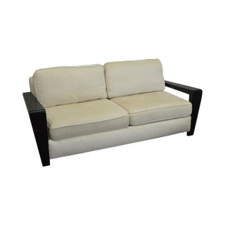 Thayer Coggin Modern Design Black & White Sofa