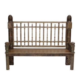 Tribal Highback Rustic Bench