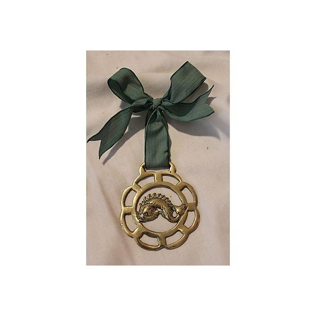 Horse Brass Dolphin Ornament - Image 2 of 3