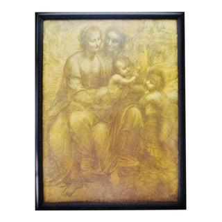 Vintage Leonardo Da Vinci Framed Print The Virgin and Child with St. Anne and John The Baptist