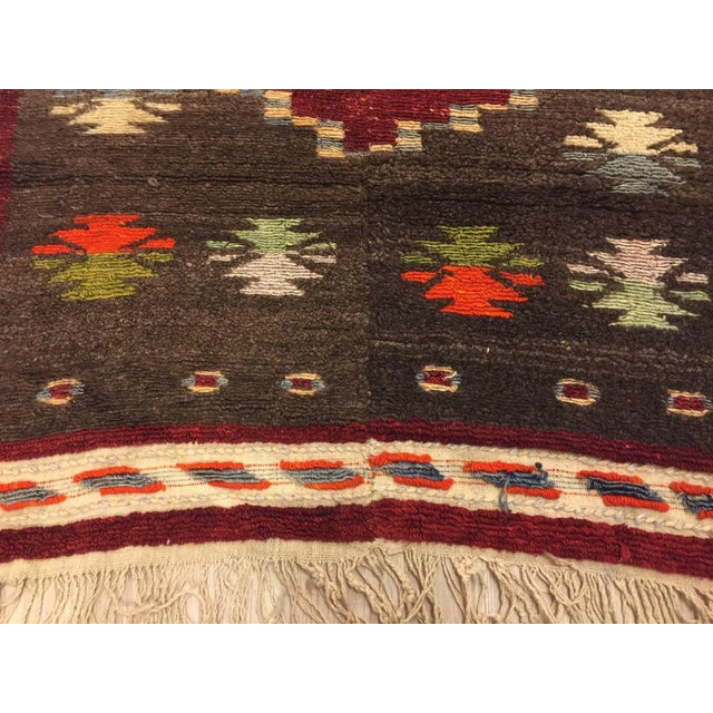 Vintage Turkish Tribal Angora Rug - 3′3″ × 4′5″ - Image 5 of 7