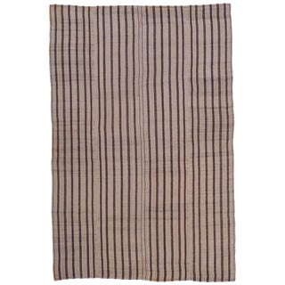 "Striped ""Jajim"" in Brown and Ivory"