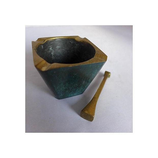 Mid-Century Brass Pipe Smoker's Ashtray - Image 5 of 7