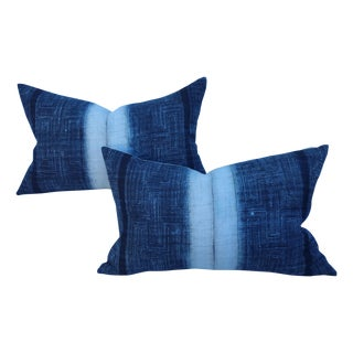 Yao Hill Tribe Homespun Indigo Pillow Shams
