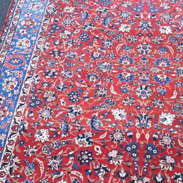 Vintage Persian Antique Handmade Rug 10x13 - Image 6 of 11