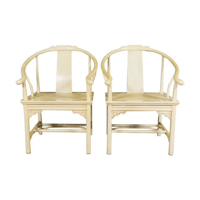 Vintage Barrel Back Horseshoe Armchairs - A Pair - Image 1 of 5