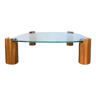 Rare Karl Springer Zebra Wood Coffee Table