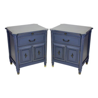 Mid-Century Neoclassical Style Nightstands - a Pair