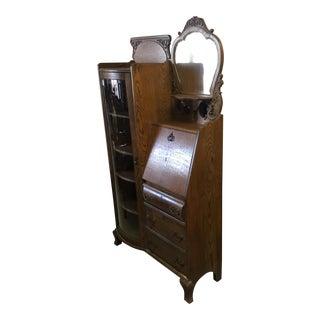 Antique Secretary Desk Curio Cabinet