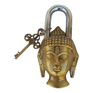 Bronze Buddha Mystery Padlock