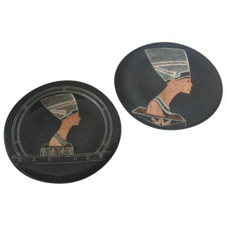 Egyptian Wall Medallions - A Pair