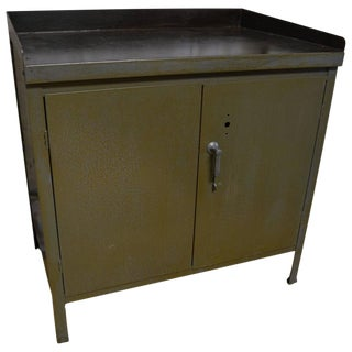 Industrial Steel 2 Door Cabinet