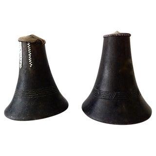 Hima Milk Jugs w/ Woven Lids, S/2