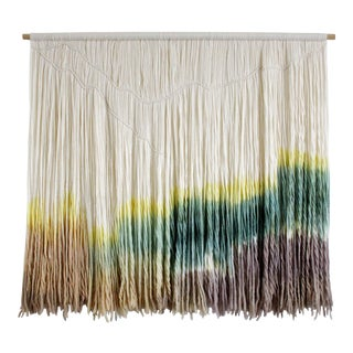 """The Mountains"" Macrame Dip Dyed Tapestry"
