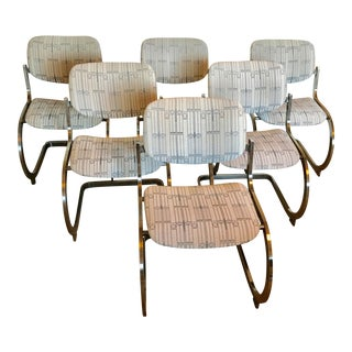 Marcel Breuer-Style Armless Upholstered Dining Chairs - Set of 6