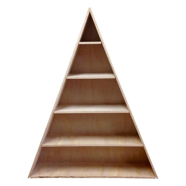 Triangular Natural Maple Bookshelf - Image 1 of 8