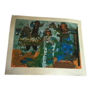 """""""Theo Tobiasse Coronation"""" Spanish Print"""