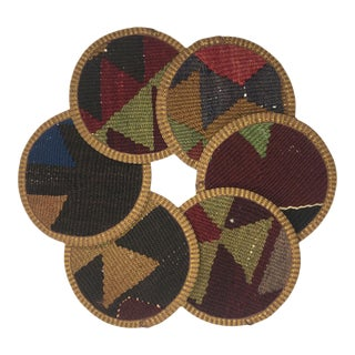 Kilim Coasters Set of 6 | Derya