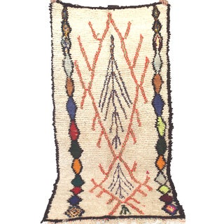 "Vintage Moroccan Azilal Berber Rug - 3'6"" x 7'7"""
