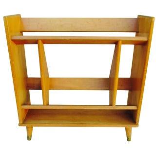 Mid-Century Modern Bookcase in Blond Wood