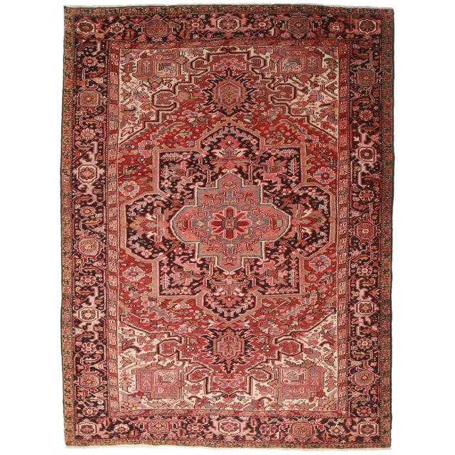 "RugsinDallas Vintage Persian Heriz Rug 8' 2"" X 11' 2"" - Image 1 of 2"